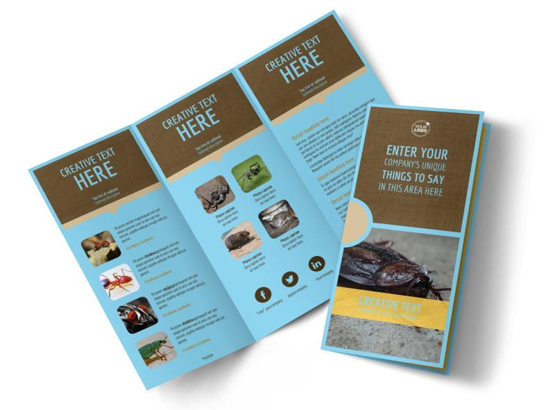 Exterminator Tri-Fold Brochure Template