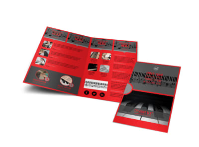 Piano Lessons Bi-Fold Brochure Template