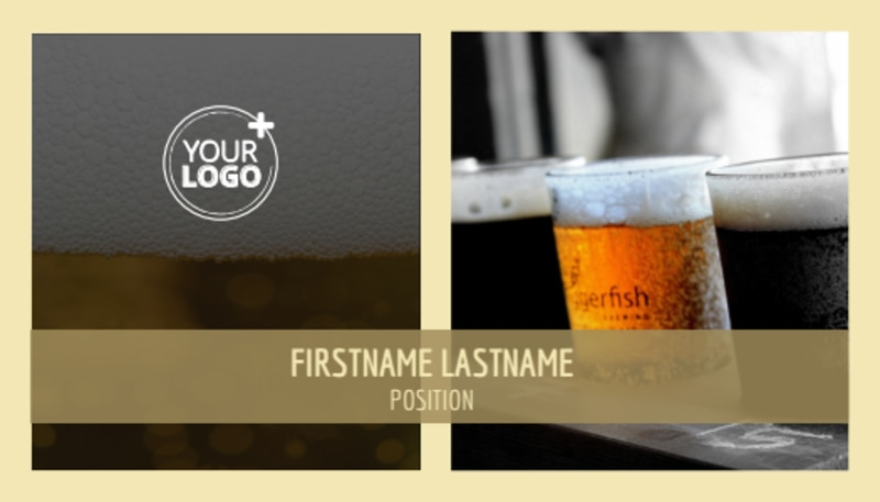 Food & Brewery Business Card Template Preview 2