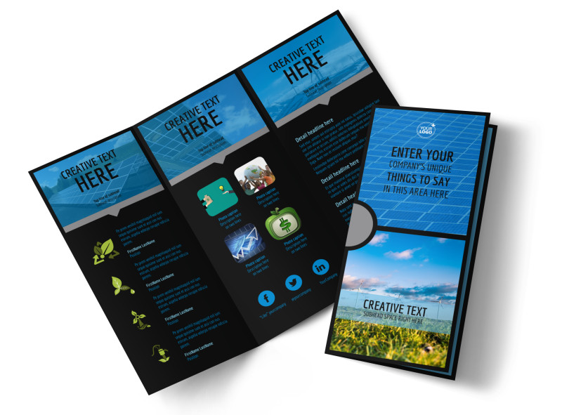 Eco Investments Tri-Fold Brochure Template