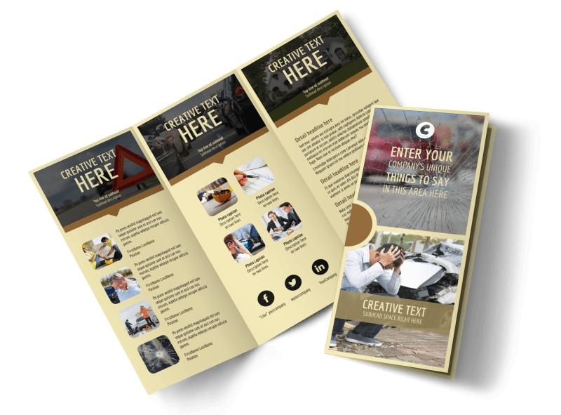 Accident Compensation Tri-Fold Brochure Template