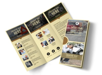Accident Compensation Tri-Fold Brochure Template