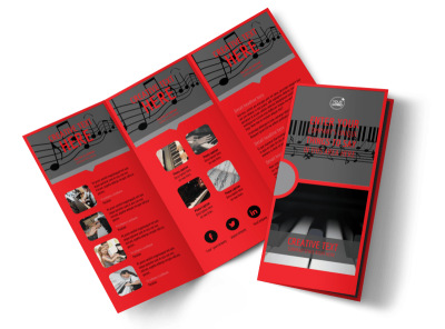 Piano Lessons Tri-Fold Brochure Template