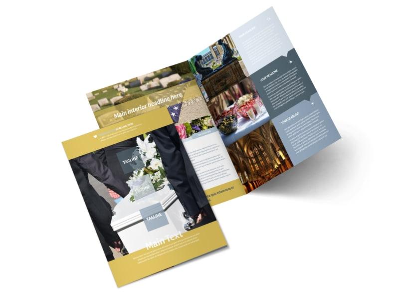 Funeral Service Bi-Fold Brochure Template 2