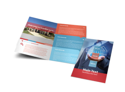 Contemporary Bi-Fold Brochure Template