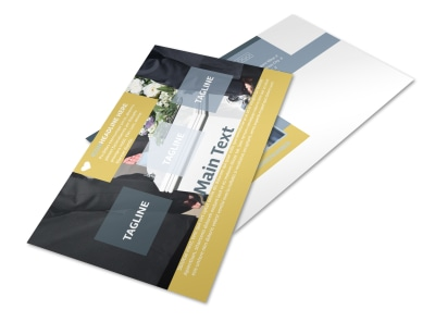 Funeral Service Postcard Template 2 preview