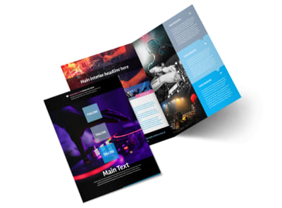 DJ Profile Bi-Fold Brochure Template 2