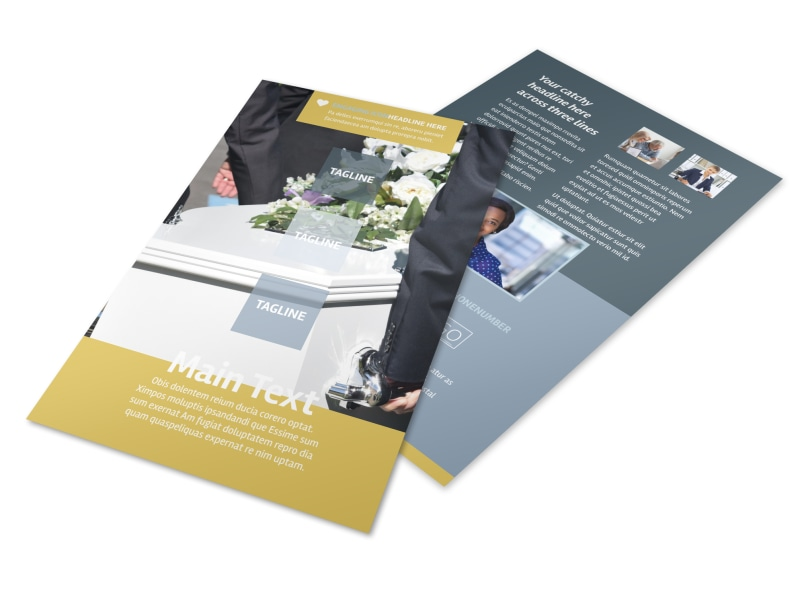 Funeral Service Flyer Template 3