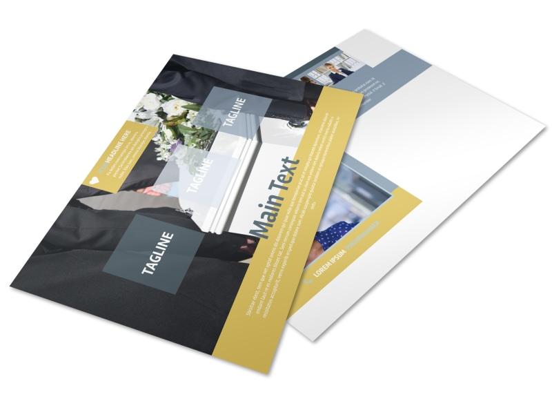 Funeral Service Postcard Template