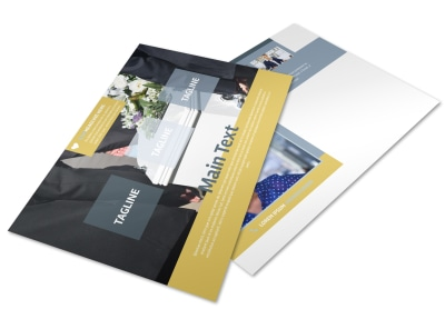 Funeral Service Postcard Template preview