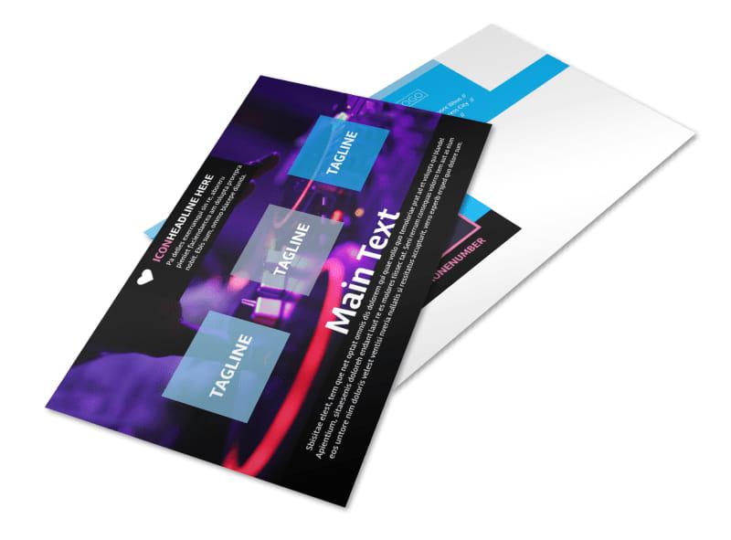 DJ Profile Postcard Template 2