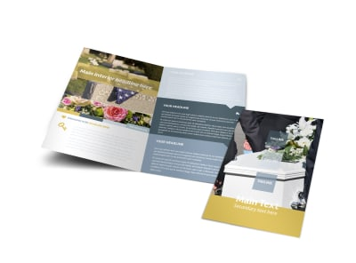 Funeral Service Bi-Fold Brochure Template preview