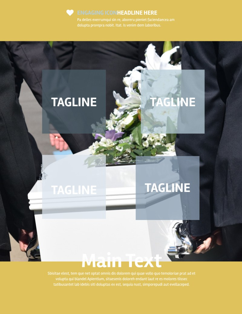 Funeral Service Flyer Template Preview 2