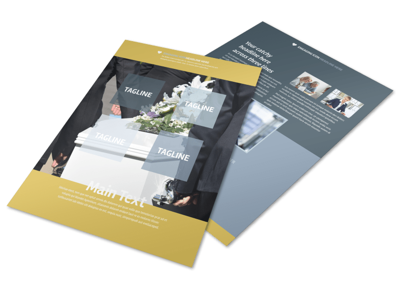 Funeral Service Flyer Template Preview 1