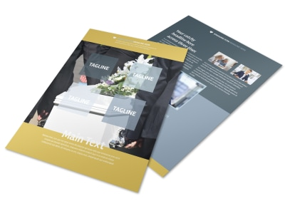 Funeral Service Flyer Template preview