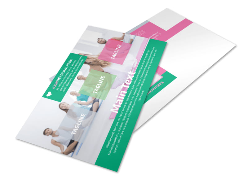 Fit Yoga Class Postcard Template 2
