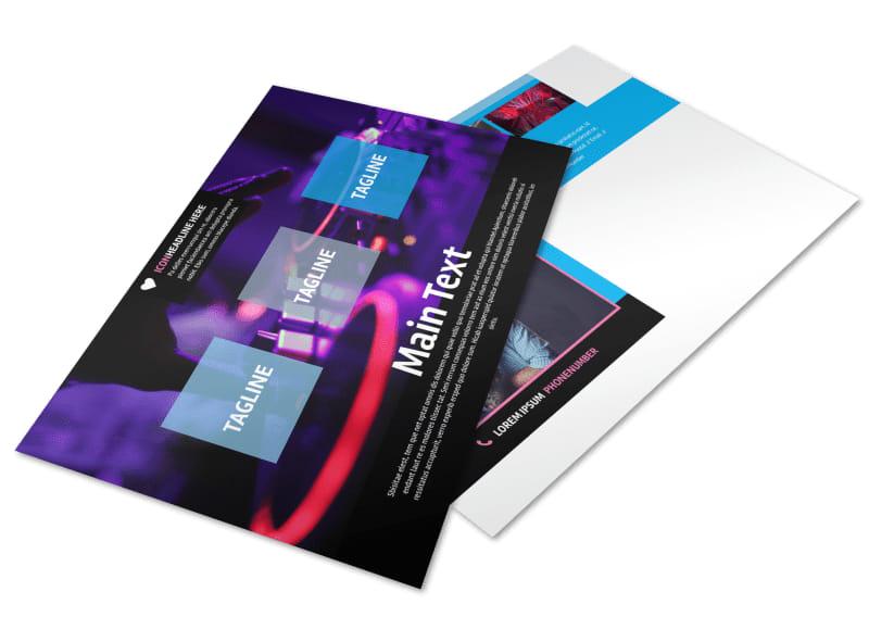 DJ Profile Postcard Template