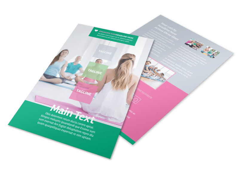 Fit Yoga Class Flyer Template 3