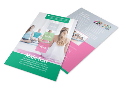 Fit Yoga Class Flyer Template 3 preview