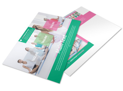Fit Yoga Class Postcard Template preview
