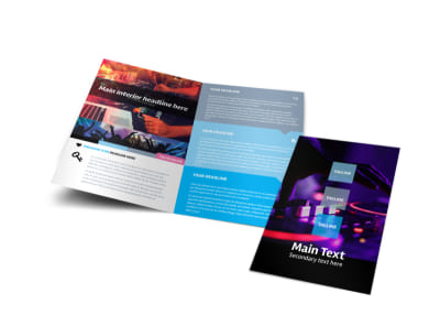 DJ Profile Bi-Fold Brochure Template preview