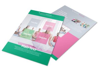 Fit Yoga Class Flyer Template preview