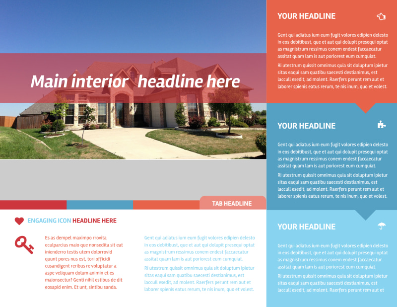 Contemporary Tri-Fold Brochure Template