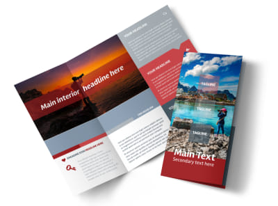 Photography Studio Tri-Fold Brochure Template preview