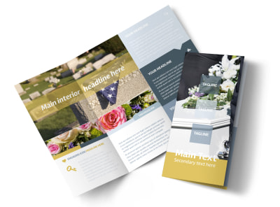 Funeral Service Tri-Fold Brochure Template preview