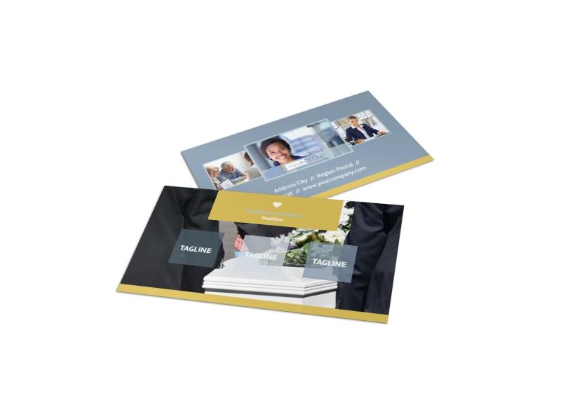 Funeral Service Business Card Template Mycreativeshop