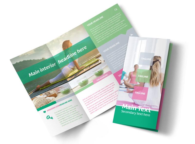 Fit Yoga Class Tri-Fold Brochure Template