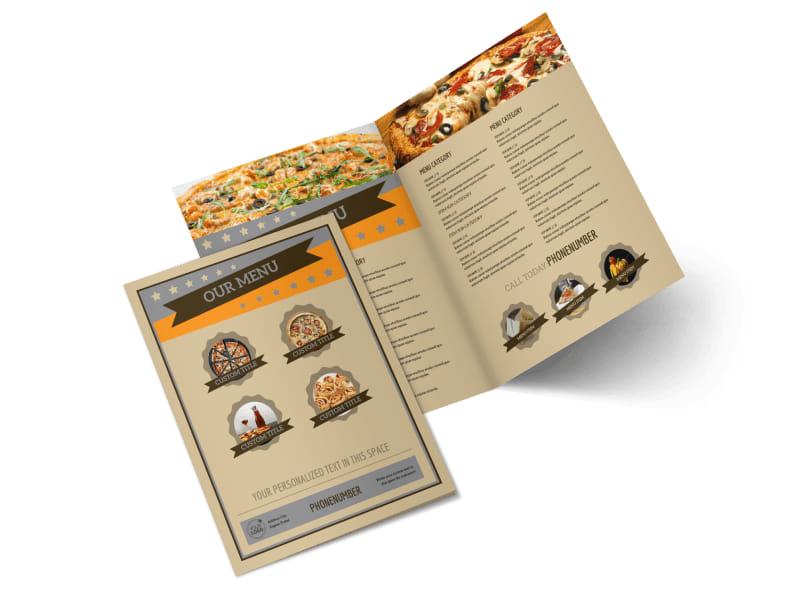 Pizza Shop Bi-Fold Brochure Template 2