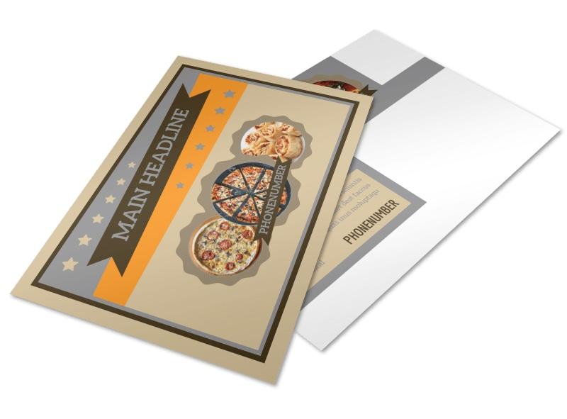 Pizza Shop Postcard Template 2