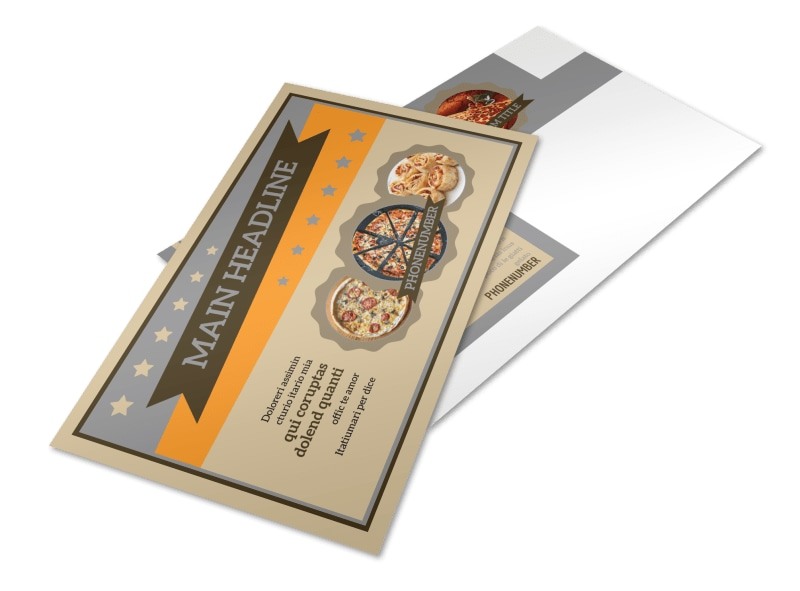 Pizza Shop Postcard Template