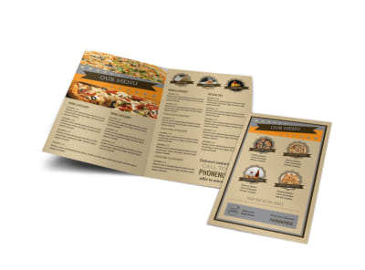 Pizza Shop Bi-Fold Brochure Template