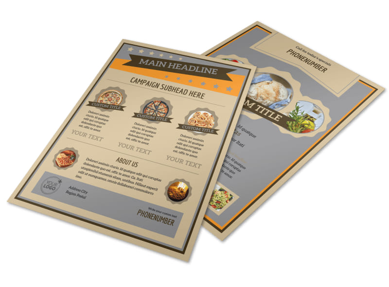 Pizza Shop Flyer Template