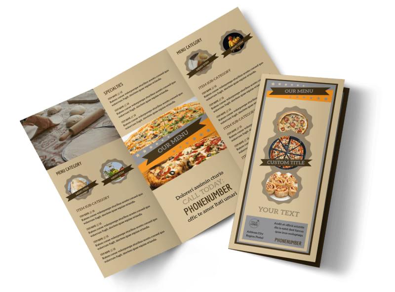 Pizza Shop Tri-Fold Brochure Template