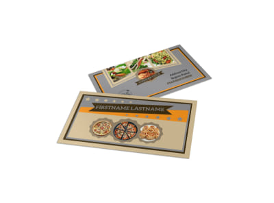 Pizza Shop Business Card Template