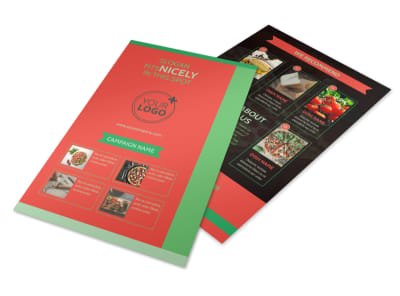 Pizza Restaurant Menu Flyer Template 3