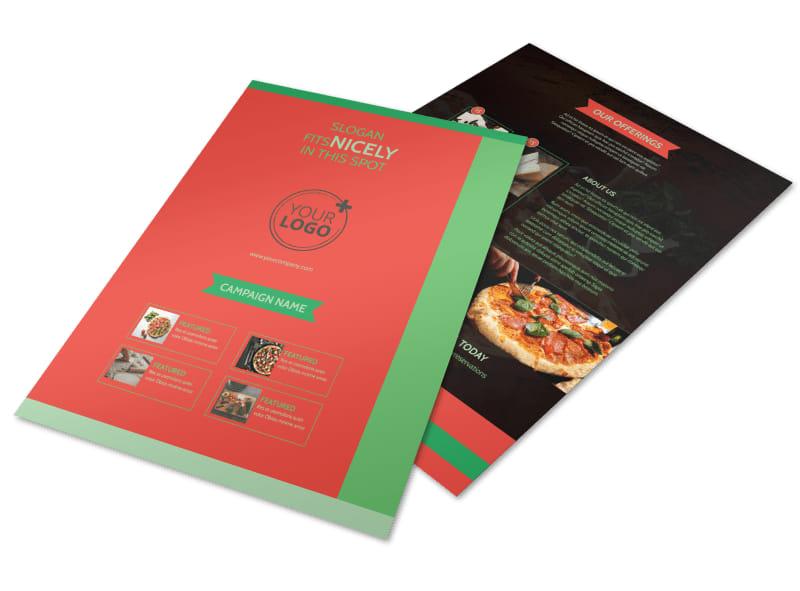 Pizza Restaurant Menu Flyer Template