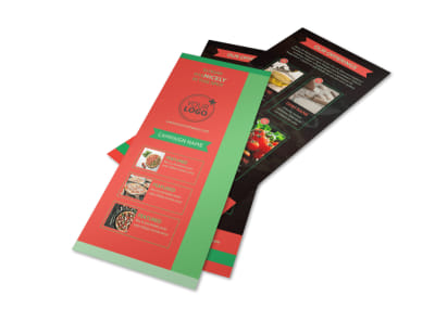 Pizza Restaurant Menu Flyer Template 2