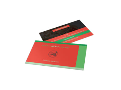 Pizza Restaurant Menu Business Card Template