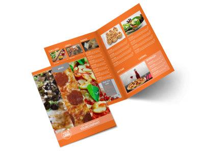 Pizza Menu Bi-Fold Brochure Template 2
