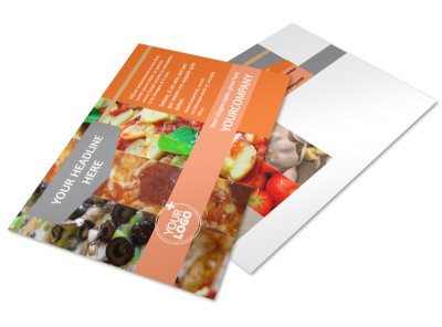 Pizza Menu Postcard Template 2
