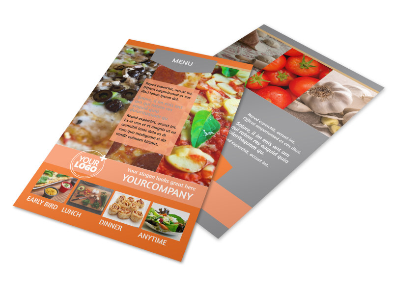 Pizza Menu Flyer Template 3