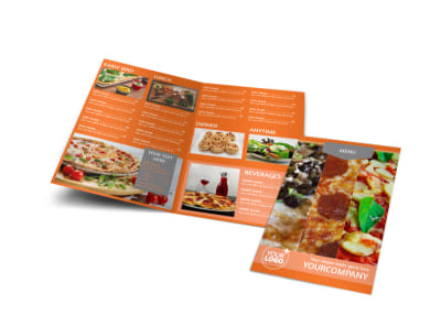 Pizza Menu Bi-Fold Brochure Template