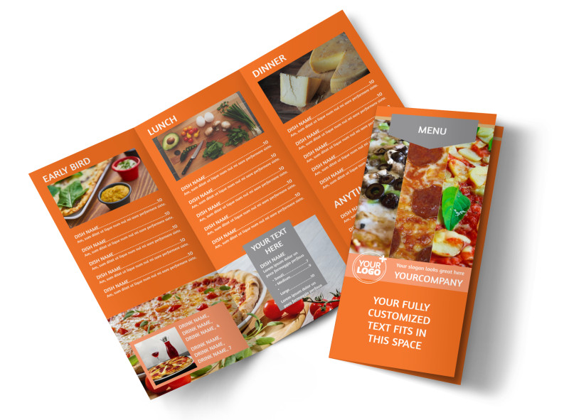 Pizza Menu Brochure Template MyCreativeShop - Menu brochure template