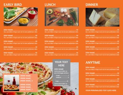 Pizza Menu Brochure Template Preview 2