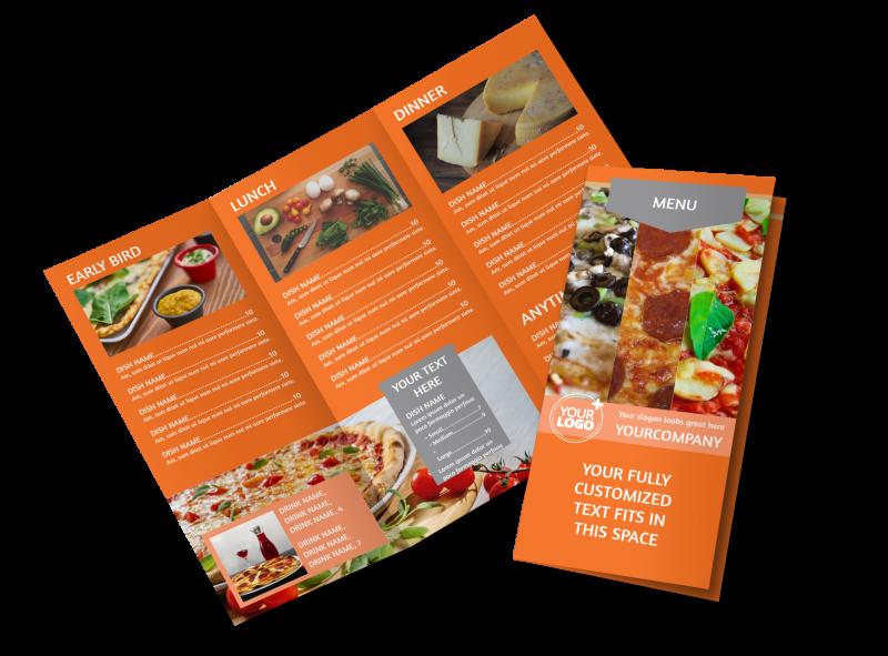 Pizza Menu Brochure Template Preview 1