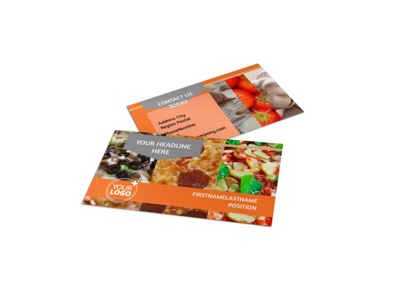 Pizza Menu Business Card Template